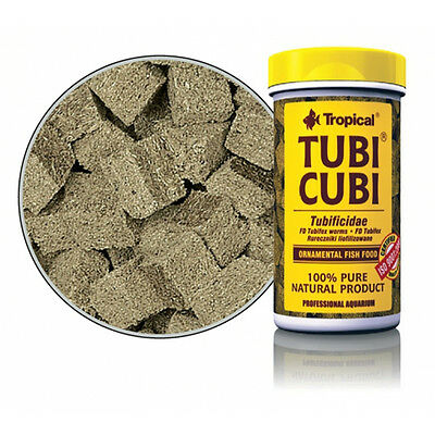 Alimento para peces natural Tropical tubi cubi 100 ml tortugas acuario.Tubifex