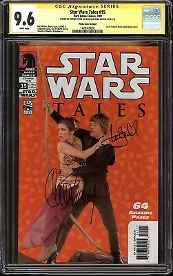 Star Wars Tales #15 Photo Variant CGC 9.6 SS Signed Carrie Fisher & Mark Hamill