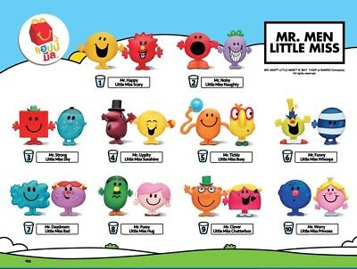 McDonald's Happy Meal Toy 2017 Mr.Men & Little Miss Individual Pieces