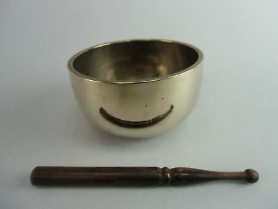 B394 Japanese Buddhist Altar Fitting Rin Bell Prayer Singing Bowl Metal Vtg Orin