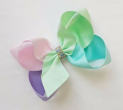 Jojo style Big bow mixed pastel colour large Bow hair pin