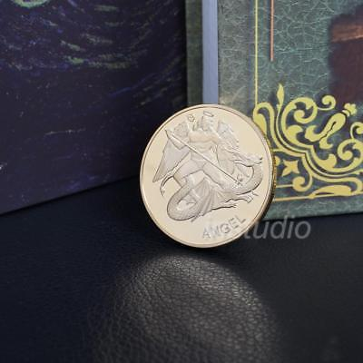 Gold/Silver Color Justice Angel  Commemorative Collection Coin Gifts Pop