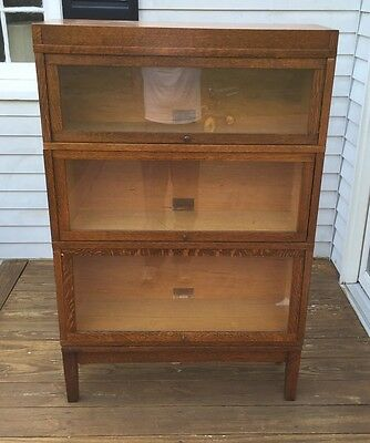 Globe Wernicke Mission Oak 5 Piece 3 Stack Barrister Bookcase EXC COND!
