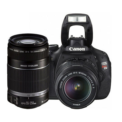 Canon Rebel T3i (EOS 600D / Kiss X5), Canon 18-55mm + 55-250mm lens + 16GB CARD