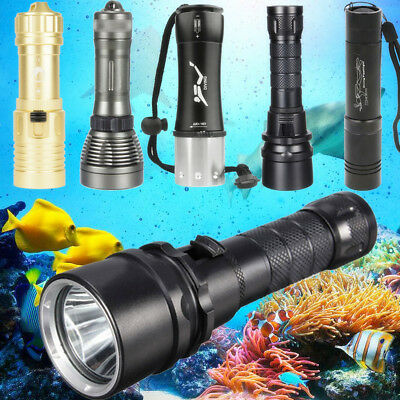 Unterwasser LED Tauchen Lampe Taschenlampe Flashlight Diving Licht Scuba Dive