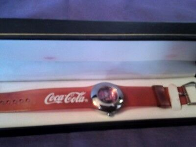 Coca-Cola Collectible Watch with Red 8 1/2 Inch Gel Band