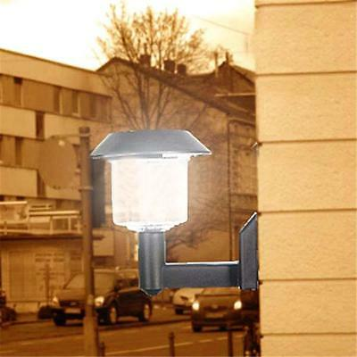 Bright LED Solar Powered Fence Gate Wall Lamp Post Light Outdoor Garden Yard GL