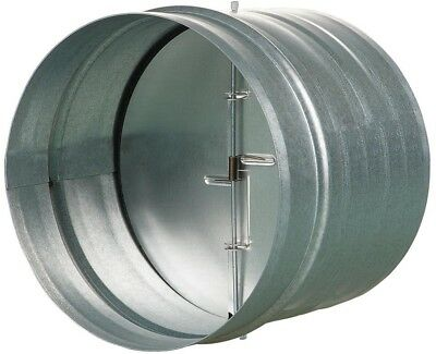 VENTS-US 6 In. Galvanized Back Draft Damper Rubber Seal Round Horizontal Durable