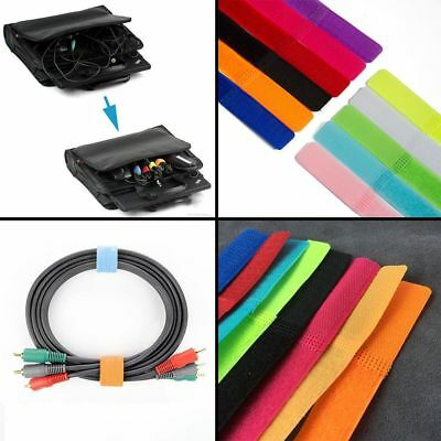 10Pcs Bobbin Cable Winder Wire Organizer Management Magic Tape Ties Straps