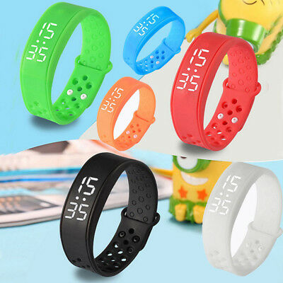 Childrens Activity Tracker USB Kids Pedometer Step Counter Fitness Band Watch