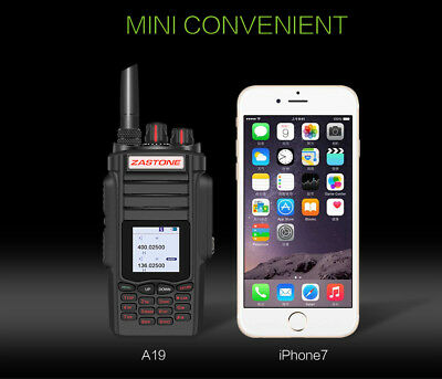 10W Walkie Talkie ZT-A19 Transceiver Dual Band VHF/UHF Portable 2 Way Ham Radio