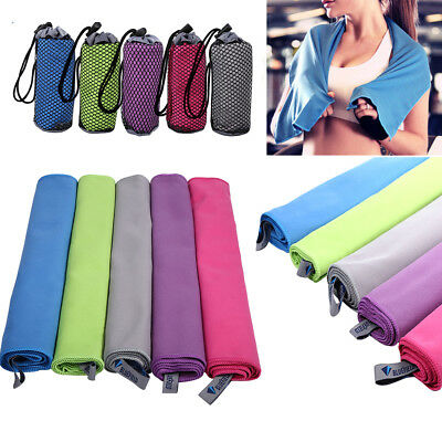 Microfibre Quick Drying Sports Travel Towel Camping Gym Fitness Swimming Outdoor