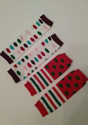 Baby girl's leggings - One pair perfect for Christmas- Measurements in Pictures
