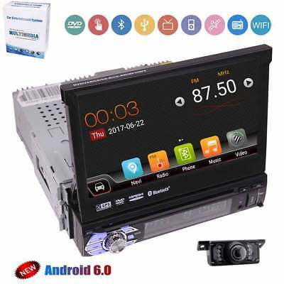 """7""""Touchscreen GPS Multimedia Player Bluetooth Stereo 1DIN WIFI Android6.0 Camera"""