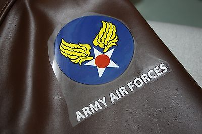 WWII WW2 Style Jacket US ARMY AIR FORCES DECAL A-2 B-3 D-1 ma-1 b-15 iron on