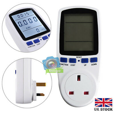 LCD Digital Voltage Watt Power Meter Switch Analyzer Energy Meter Plug-in Socket