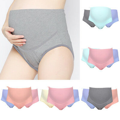 3Pcs Women's Pregnant  Maternity Panties High Waist Briefs Underwear Nice