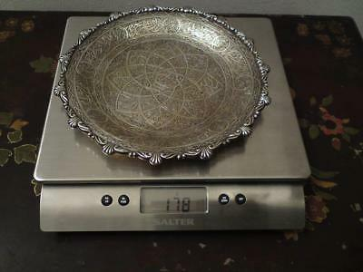 Egyptian Hallmark Silver-gilt Tray; Weight 176 grams
