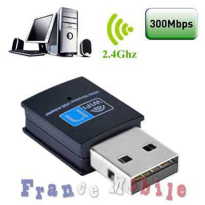 Clé Clef USB Dongle WiFi 300Mbps 802.11 mini adaptateur XP Vista Windows 7 et 8