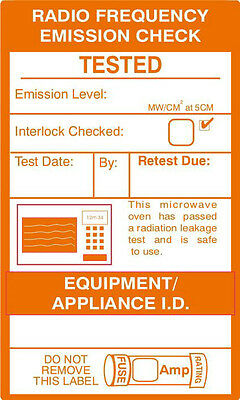 Microwave Test Labels - Roll of 500