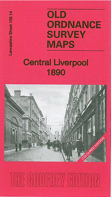 Old Ordnance Survey Map Central Liverpool 1890 Upper Parliament St Lime Street