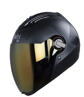 Steelbird SBA-2 AIR FULL FACE DASHING BLACK HELMET With EXTRA VISOR
