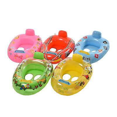 Kid Baby Care Seat Swimming Ring Pool Aid Trainer Beach Float-Inflatable Random&