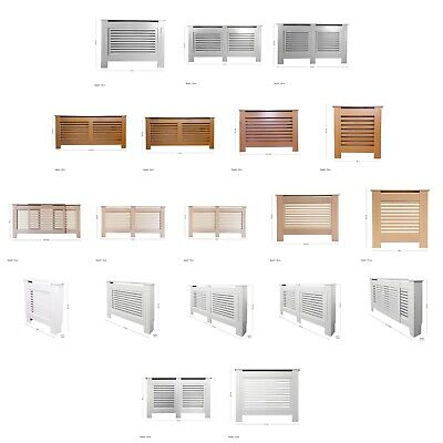 Oak/Grey/Green/White Painted & Unfinished Modern MDF Wood Radiator Cover Cabinet