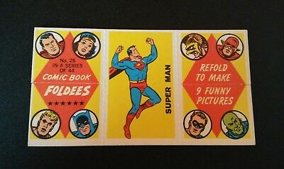 Superman Trading Card 1966 Comic Book Foldees #26 USA
