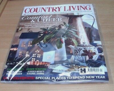 Country Living magazine JAN 2018 Vintage Crafts to Make, Places to Spend NewYear