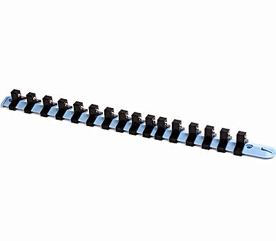 "1/4"" 3/8"" 1/2"" 12 Clips Socket Storage plastic  Rail Rack Organizer"