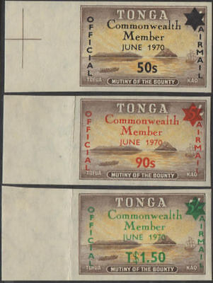 Tonga official 1970 SGO42-O44 Commonwealth Membership set MLH