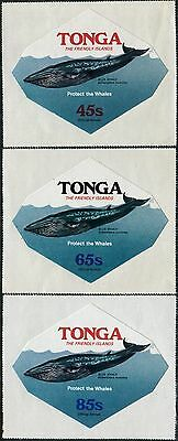 Tonga official 1977 SGO160-O162 Whale Conservation set MNH