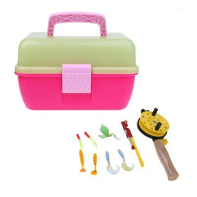 Winter Ice Fishing Rod Fly Rod Plastic Children Fishing Pole Lures Set Pink