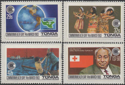 Tonga 1983 SG839-842 Commonwealth Day set MNH