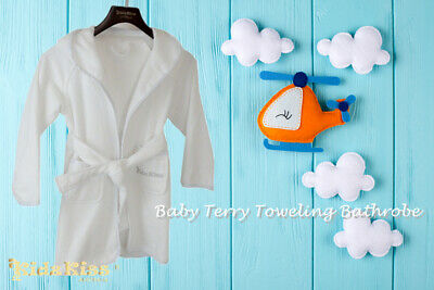 Kidz Kiss Baby Terry Towel Hooded Bath Robe / Gown [4 Sizes]
