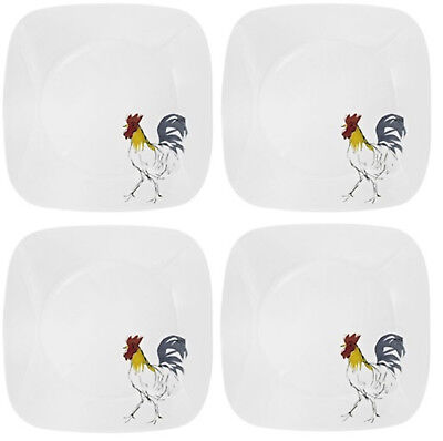 NEW! SET OF 4 Corelle Square Country Dawn 8 3/4\