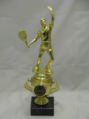 Tennis Male  Figurine Trophy on Mini Gold Cup 240mm Engraved FREE