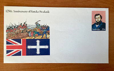 20c 125th Anniversary Eureka Stockade - Pre Stamped Envelope - Mint