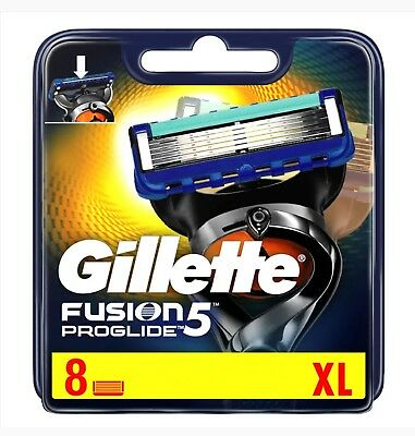 Gillette Fusion Proglide Manual - 4 and 8 Blade Packs - 100% Genuine