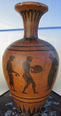 Greek Attic Black Figure Ovoid Pottery Vase