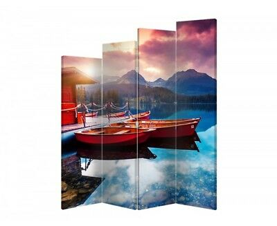 Two-sided decorative screen maritime 06531 180x120