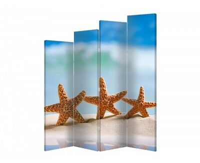 Two-sided decorative screen maritime 10706 180x120