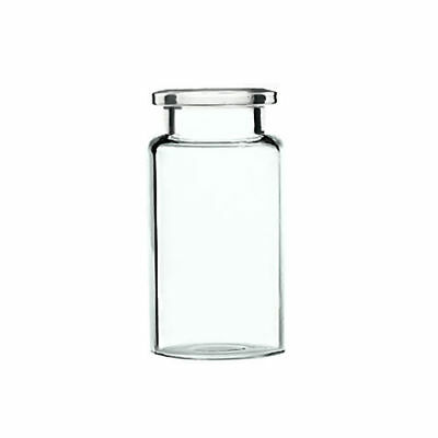 20mm Clear Glass Crimp Top Head Space Vials 10 ML Capacity, 300 pieces pack