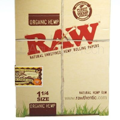 AUTHENTIC RAW NATURAL ROLLING PAPER ORGANIC HEMP 1.25 *Fastest shipping**RAW