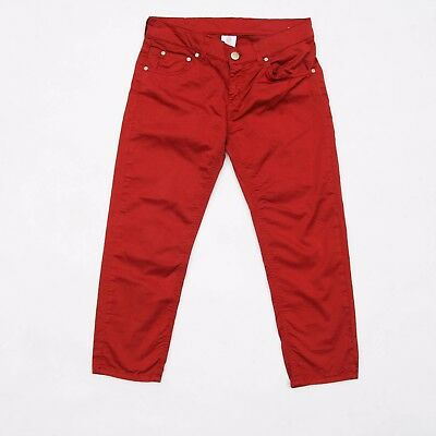 Dondup Queen Girls Skinny leg Copper 3/4 Trousers Stretch Kid's Italy 14 yrs Red