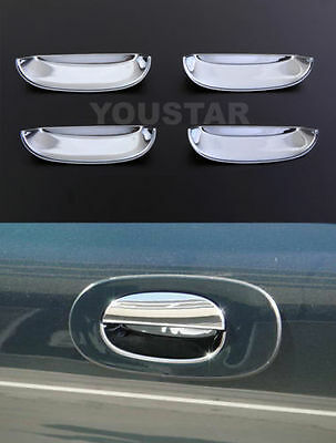 NEW PREMIUM CHROME Door Insert Handle Cup Scoup Inner Shells Trims Jaguar XJ XJ8