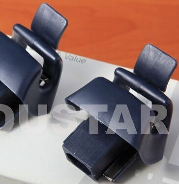 MERCEDES BENZ SL CLASS R129 NEW PAIR BLUE Sun Visor Mirror Mount X2 Clips r6