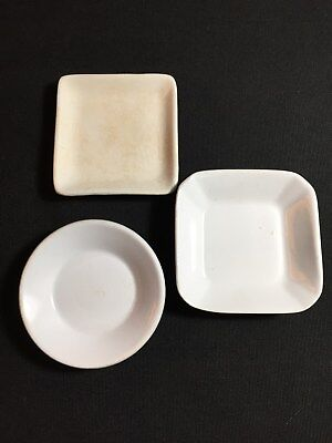 Vintage Set of 3 Mixed English Maker Butter Pats