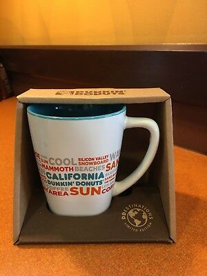 New Dunkin' Donuts CALIFORNIA 2017 Destinations Coffe Mug
